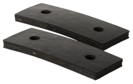 These GMC radiator support mounting pads fit 1955-1957 GMC Pickup Trucks and Suburbans