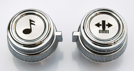 This radio knob set fits 1978-1987 Chevy and GMC Pickup Trucks with AM/FM or AM/FM Cassette radio and 1978-1991 Chevy Blazer/GMC Jimmys and Suburbans with AM/FM or AM/FM Cassette radio