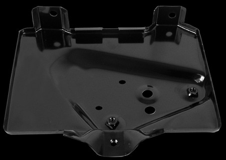 This battery tray fits 1966 Chevrolet Chevelles