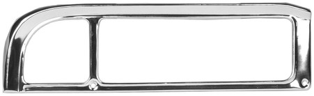 This passenger side tail lamp bezel is aluminum and fits 1969-72 fleetside Chevrolet and GMC trucks, Blazers and Suburbans.