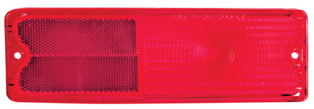 This LED tail lamp lens is red andfits 1967-72 fleetside Chevrolet and GMC trucks.