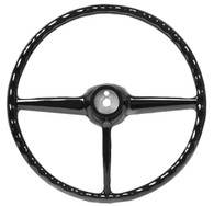 This black steering wheel fits 1947-53 Chevrolet and GMC trucks