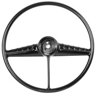 This black steering wheel fits 1954-56 Chevrolet and GMC trucks
