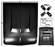 """This """"Eleanor"""" style steel hood, without hole, fits 1967-68 Ford Mustangs."""