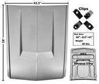"""This """"Eleanor"""" style aluminum hood without hole fits 1967-68 Ford Mustangs."""
