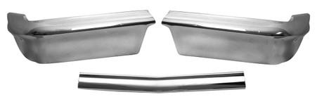 This 3 piece front bumper fits 1962 Chevrolet Impalas.