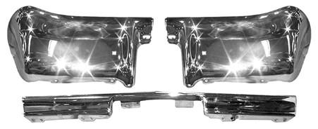 This3 piecerear bumper set fits 1963 Chevrolet Impalas.
