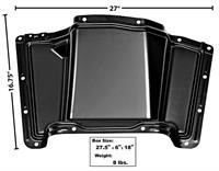 """This transmission cover panels fits 1960-63 2WD Chevrolet and GMC Trucks. Hump is 5"""" high.."""
