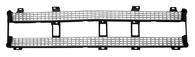 This plastic inner grille insert fits 1969-1970 Chevrolet Pickup Truck