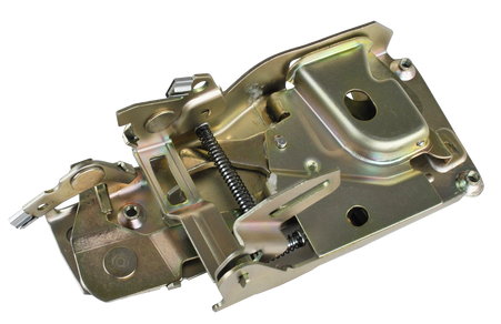 This door latch assembly, passenger's side fits 1973-1982 Chevrolet and GMC Pickup trucks, 1973-1982 ChevroletBlazers, Suburbans, and GMC Jimmys.