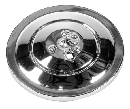 "This 5"" ribbed back, round exterior mirror is chrome and fits 1947-72 Chevrolet and GMC trucks."