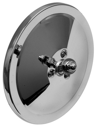 "This 6"" smooth back, round exterior mirror is chrome and fits 1947-72 Chevrolet and GMC trucks."
