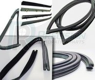 This complete weatherstrip Kit fits 1967-72 Chevrolet and GMC trucks without trim groove and comes with black beltline. This kit includes large rear window seal, door seal with mitered corners, upper channel, division post glass run, vent seal kit, windshield seal, and beltline kit  for door windows. These weatherstrip kits come with a lifetime guarantee from Precision Replacement Parts!