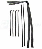 This clip in deluxe beltline kit (window swipes), inners, outers, and run channels with black bead comes in an 8 piece kit (4 for each window) and fits 1964-66 Chevrolet and GMC trucks. This beltline kit comes with a Lifetime Guarantee from Precision Replacement Parts!
