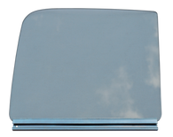This door glass assembly, clear glass, driver's side fits 1951-1954 Chevrolet and GMC Pickup Trucks.