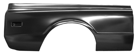 This complete 6' fleetside bedside, passenger's side fits 1968-1972 Chevrolet Pickup Truck and 1968-1972 GMC Pickup Truck