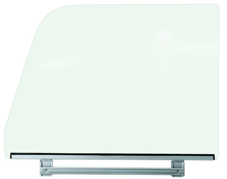 This clear door glass assembly with bottom frame fits passengers side 1964-66 Chevrolet and GMC trucks.