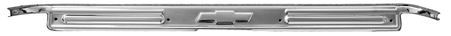 This stainless steel door scuff plate with bowtie emblem fits 1967-72 Chevrolet and GMC trucks.