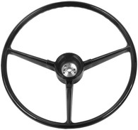 This original style black steering wheel fits 1967-68 Chevrolet and GMC trucks.