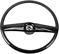 This black steering wheel fits 1969-72 Chevrolet and GMC trucks.