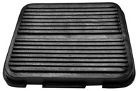 This brake/clutch pedal pad fits 1967-72 Deluxe Chevrolet and GMC trucks.