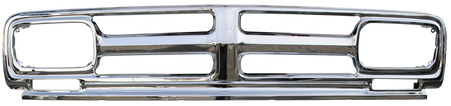 All chrome grille frame in 1971-72 style, fits 1968-72 GMC truck