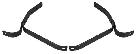 This set of rear bumper brackets fits 1947-55 Chevrolet and GMC 1/2 ton pickup trucks.