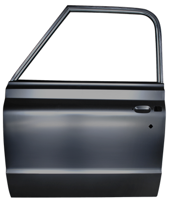 This complete door shell, driver's side fits 1967-1971 Chevrolet Pickup Truck and 1967-1971 GMC Pickup Truck
