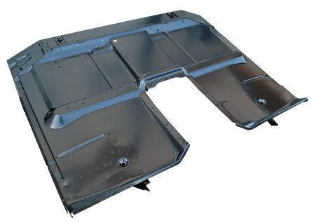 "This full cab floor assembly with all braces and cab support fits 1967-1972 Chevrolet and GMC 4wd, or ""High Hump"" floor, Pickup Trucks."