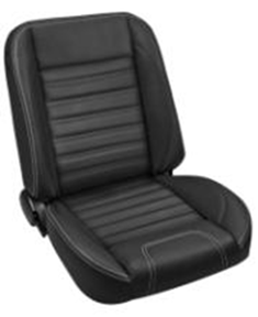 This TMI Pro-Classic Universal SPORT, black with white stitching low back bucket seat pair makes a great addition to your classic truck and fits 1947-87 Chevrolet and GMC Trucks. For additional colors and stitching please call Nsane HotRodz at 865-761-0460.