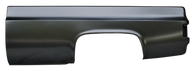 This steel, fleet, long bed kit fits 1973-87 Chevrolet and GMC pickup trucks. Included in the kit is drivers and passengers side bedsides with your choice of fuel door, front bed panel, Stamped CHEVROLET tailgate, steel bed floor, 2 wheel houses, trunnions, and a stainless bed bolt kit to assemble your new bed easily. Please call and let us know which bedsides you would like. Shipping quotes not included and not available online.