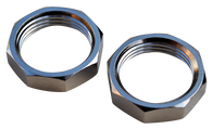 This set of chrome wiper retainer nuts (2pc) fits 1947-1959 Chevrolet and GMC Pickup Trucks, Suburbans and Panel Trucks.