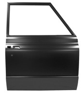 This complete door shell, passenger's side fits 1972 Chevrolet Suburbans. This is a truck freight item, please call for shipping quote.