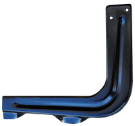 This passenger's side bedside step support brace fits 1960-1966 stepside Chevrolet and GMC Pickup Trucks.