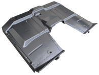 This full floor pan assembly, with removable transmission cover, fits 1963-1966 Chevrolet and GMC Pickup Trucks.  NOTE: THIS MAY BE USED ON 1960-1962 BUT THE FRONT FLOOR SUPPORT BOLT HOLES NEED TO BE DRILLED. THESE COME DRILLED FOR THE 1963-1966.