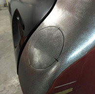 This fuel neck filler blank is custom made and shaped to weld into your cab and fill the existing stock gas tank hole. It fits 1960-66 Chevrolet and GMC trucks.