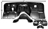 This replacement firewall is a 2 piece design and fits 1960-62 Chevrolet and GMC Pickup trucks.