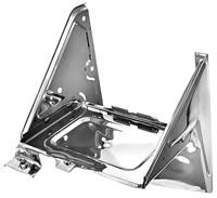 This stainless battery tray assembly fits 1967-72 Chevrolet and GMC trucks with AC