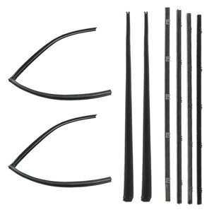 This beltline molding kit fits 1967-72 Suburbans with chrome molding. This window channel kit contains the chrome style beltline moldings and the glass run channels for both driver and passenger doors.  This product is distributed by Precision Replacement Part, the leader in quality automotive weatherstripping. Our product is made from the original specs and from high quality ozone resistant materials to fit your vehicle.
