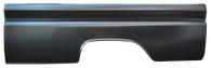 This long, fleet, steel floor bed kit fits 1960-66 Chevrolet and GMC Pickups. This kit includes long fleet bedsides, front bed panel, Chevrolet tailgate and a CUSTOM steel floor! It also includes wheel tubs, trunnions, pivot bolts, and a stainless bed bolt kit to bolt the entire bed together. This is a CUSTOM product from Nsane HotRodz and will take extra time to build.