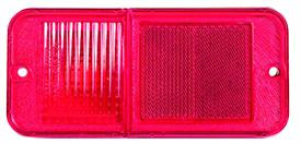 This rear standard red park lamp lens fits 1968-72 Chevrolet and GMC Pickup Trucks. 2 required per truck, LH=RH.