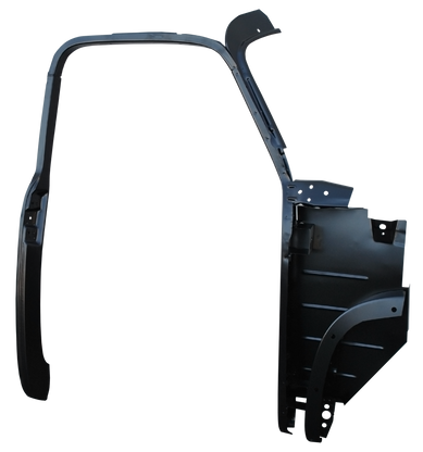 This passengers side complete 1st Series door frame assembly with kick panel fits 1947-1951 Chevrolet and GMC Pickup Trucks.