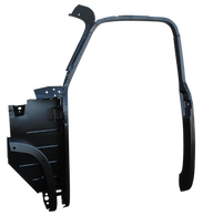 This drivers side complete 1st Series door frame assembly with kick panel fits 1952-1955 1st Series Chevrolet and GMC Pickup Trucks.