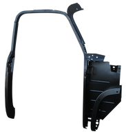 This passengers side complete 1st Series door frame assembly with kick panel fits 1952-1955 1st Series Chevrolet and GMC Pickup Trucks.