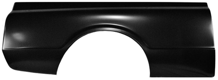This short fleet steel bed kit without marker light holes fits 1967 Chevrolet and GMC pickup trucks. This bed kit comes complete with bedsides, steel bed floor, front bed panel, CHEVROLET tailgate, tailgate hardware kit, trunnions, wheel tubs, wheelhouse brace set, fender skirts and a stainless bed bolt kit, labeled for easy assembly! Please call for shipping quote!