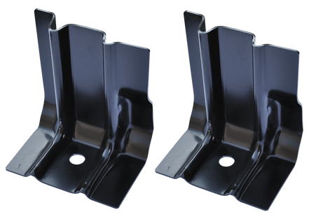 This 2nd Series floor to cab back brace set fits 1955-59 Chevrolet and GMC Pickup Trucks.