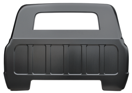 This full cab back panel with small back glass opening fits 1967 Chevrolet Pickup Truck.