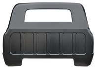 This full cab back panel with large back glass opening fits 1967-72 Chevrolet and GMC Pickup Trucks.