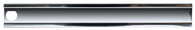 This stainless steel, driver's side, center grille molding for grilles with dual headlights, fits 1985-1987 Chevrolet Pickup Trucks, Blazers and Suburbans.