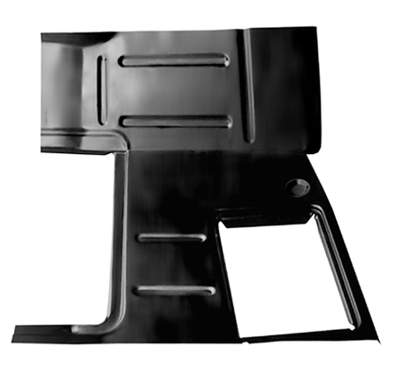 This 1st Series cab floor pan, passenger's side fits 1947-1955 Chevrolet Pickup Truck and 1947-1955 GMC Pickup Truck